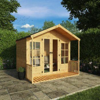 Adley 8' x 8' Premium Traditional Summer House With Veranda