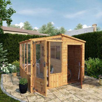 Adley 8' x 8' Shiplap Premium Combi Greenhouse