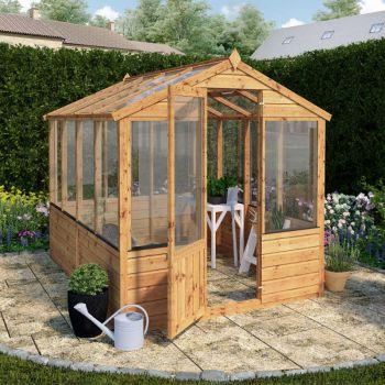 Adley 6' x 8' Budget Shiplap Greenhouse