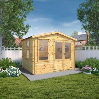 Adley 3.3m x 2.6m Newhaven Log Cabin