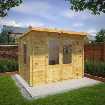 Adley 3m x 2.5m Pent Home Office Log Cabin