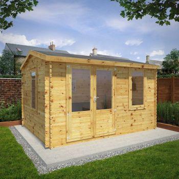 Adley 4m x 3m Home Office Log Cabin