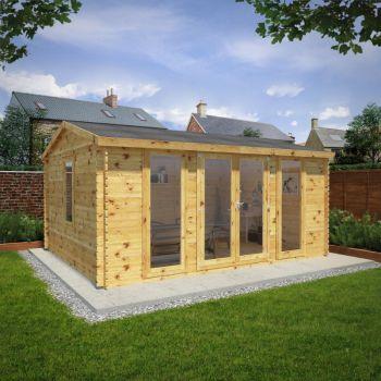 Adley 5m x 4m Home Office Executive Premium Log Cabin