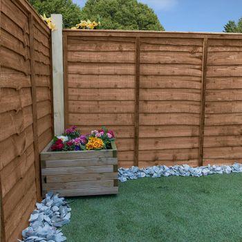 Adley 3' x 6' Pressure Treated Lap Fence Panel