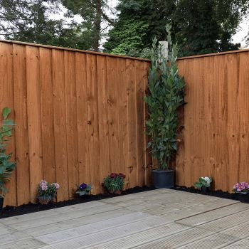 Adley 4' x 6' Pressure Treated Feather Edge Flat Top Fence Panel