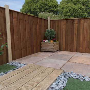 Adley 4' x 6' Pressure Treated Vertical Hit & Miss Fence Panel - Closed Boarded