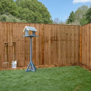 Adley 6' x 6' Pressure Treated Vertical Hit & Miss Fence Panel - Closed Boarded