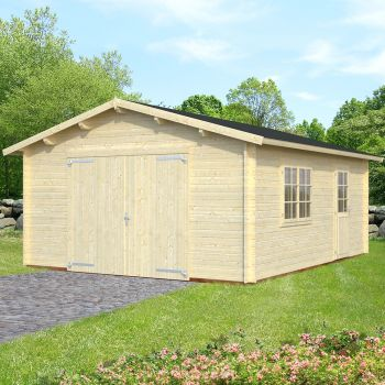 Stour 3.6m x 5.5m Wooden Garage