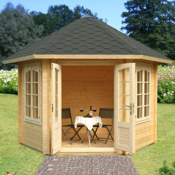 Stour 3m x 3m Hexagonal Log Cabin