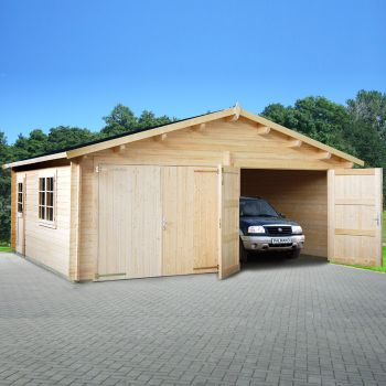 Stour 5.8m x 5.1m Wooden Double Garage