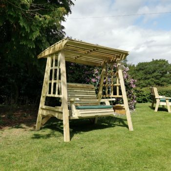 Moorvalley 2 Seater Shaded Trellis Swing Seat