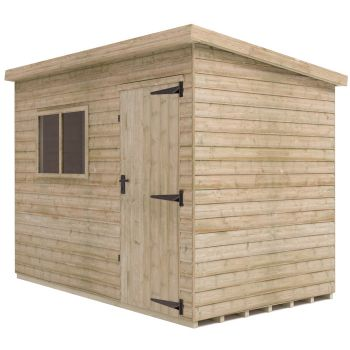 Redlands 10' x 6' Pressure Treated Deluxe Shiplap Pent Shed