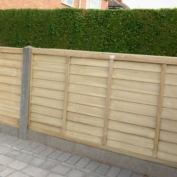 Hartwood 4' x 6' Pressure Treated Contemporary Lap Fence Panel