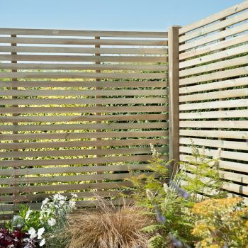 Hartwood 6' x 6' Slatted Pressure Treated Fence Panel