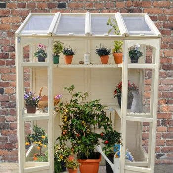 Hartwood 5' x 2' Victorian Tall Wall Greenhouse with Auto Vent