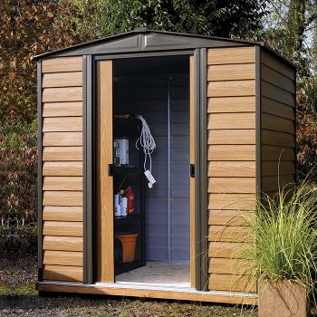 Rowlinson Woodvale 6' x 5' Apex Metal Shed