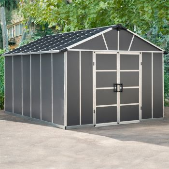 Palram 11' x 13' Yukon Dark Grey Shed