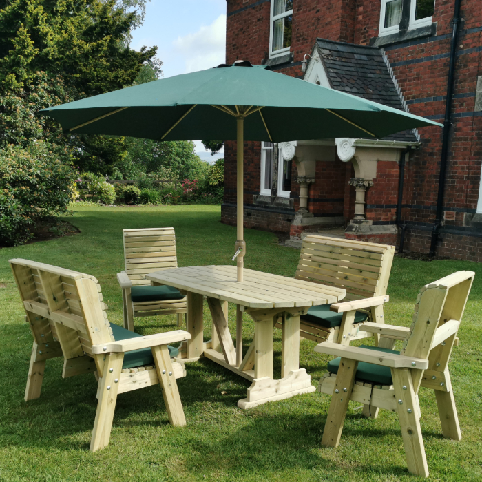Image of Moorvalley Ergo 6 Seater Rectangular Casual Dining Set