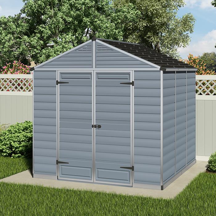 Palram - Canopia 8' x 8' Skylight Plastic Grey Shed