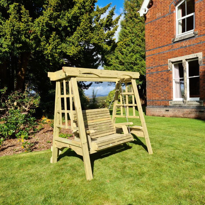 Image of Moorvalley 2 Seater Classic Trellis Swing Seat