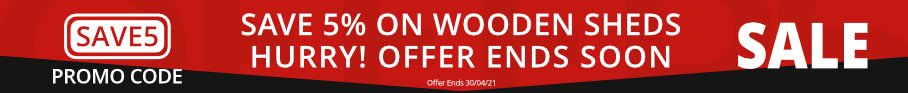 Wooden Sheds - Save 5%