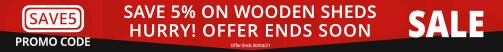 Wooden Sheds - Save 5%