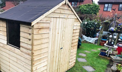 Adley 6' x 3' Overlap Apex Shed