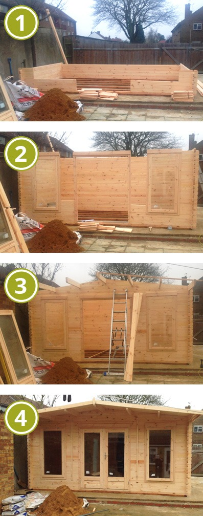 How to Install an Adley 5m x 3m Leicestershire Log Cabin