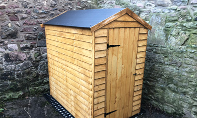 Hartwood 4' x 6' Windowless Overlap Apex Shed With Easy Fit Roof