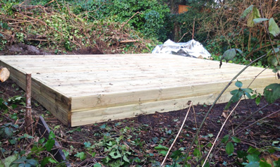 Bespoke Log Cabin Base Preparation