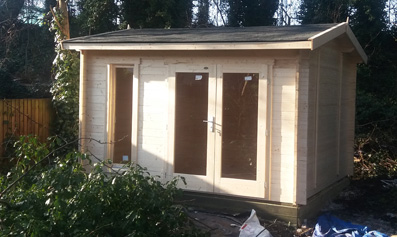 Greenway 3.5m x 3m Whiteleaf Log Cabin