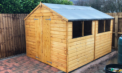 Adley 8' x 10' Double Door Shiplap Apex Shed