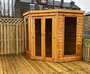 Adley 8' x 8' Chelsea Corner Summer House