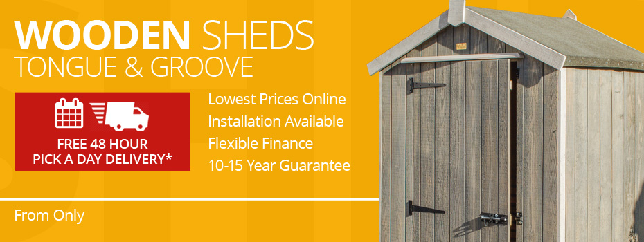 Tongue & Groove Wooden Sheds