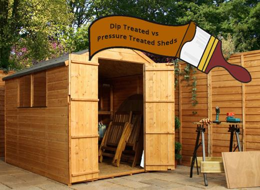 Dip Treated vs Pressure Treated Sheds