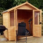 avon 7' x 5' henley double door summer house