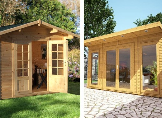 log cabins vs insulated garden rooms