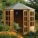 rowlinson 8' x 8' ryton octagonal summerhouse