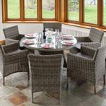 rowlinson richmond rattan dining set