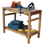 hartwood shed work bench