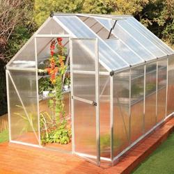 10' mythos silver polycarbonate greenhouse