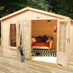 Avon 2.6m x 3.3m Newhaven Log Cabin