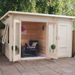 Avon 3.5m x 2.4m Hereford Log Cabin
