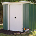 6' by 4' Rowlinson double door pent metal shed