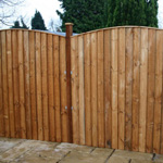 Avon 5' x 6' Feather Edge Curved Fence Panel