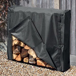 1m Metal Log Store With Cover