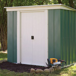 Rowlinson 6' by 4' double door pent metal shed
