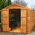 Avon 8' by 12' windowless double door overlap apex shed