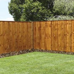 Avon 3' x 6' Vertical Hit & Miss Fence Panel - Closed Boarded
