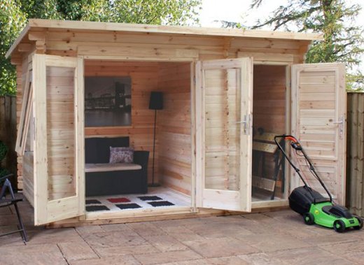 Log Cabins with Side Storage